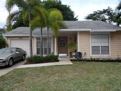 Boynton Beach Single Family Home Contingent: 5327 Courtney Circle
