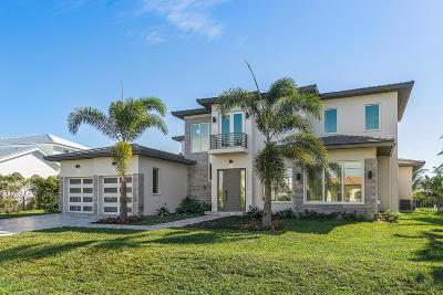 Ocean Ridge Single Family Home For Sale: 87 Island Drive S