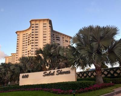 Boca Raton Condo Sold: 600 S Ocean Boulevard #1107