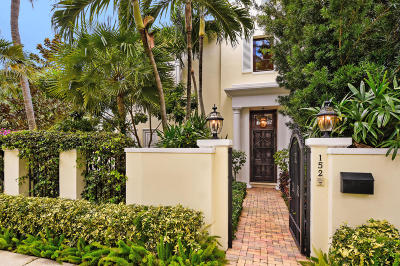 Palm Beach Townhouse For Sale: 152 Sunset Avenue