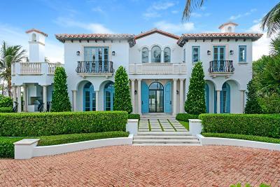 Palm Beach Single Family Home For Sale: 1230 Ocean Boulevard