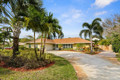Tequesta Single Family Home For Sale: 318 Country Club Drive