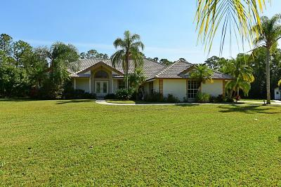 Jupiter Single Family Home For Sale: 16040 Jupiter Farms Road
