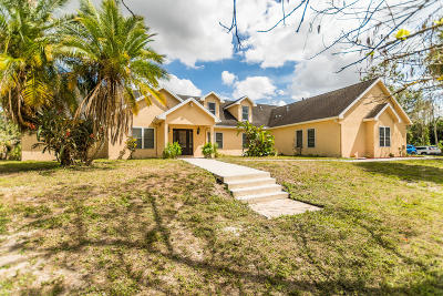 Loxahatchee Groves Single Family Home For Sale: 1472 E Road