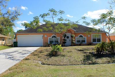 Port Saint Lucie Single Family Home For Sale: 925 NW Bayshore Boulevard