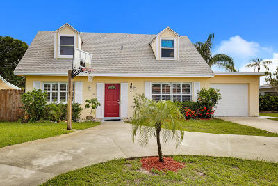 Palm Beach Gardens Single Family Home For Sale: 584 Riverside Drive