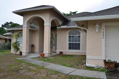 Port Saint Lucie Single Family Home Contingent: 1682 SW Cobalt