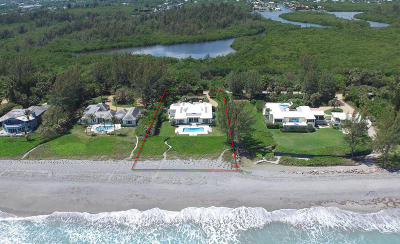 Hobe Sound Single Family Home For Sale: 63 Beach Road