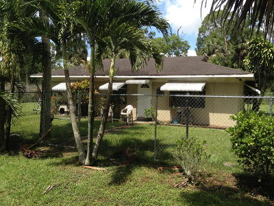 Loxahatchee Groves Single Family Home For Sale: 3509 E Road