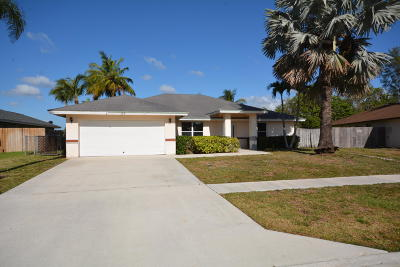Royal Palm Beach Single Family Home Contingent: 159 Sunflower Circle