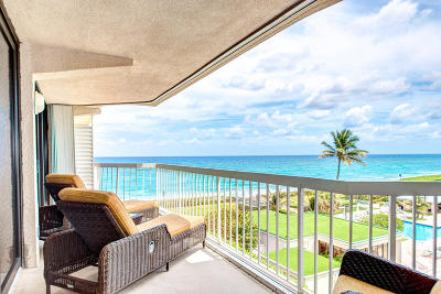 Palm Beach Condo For Sale: 3250 S Ocean Boulevard #410 N