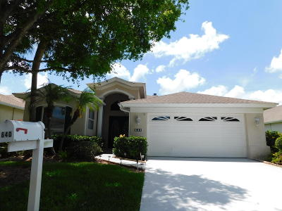 Port Saint Lucie FL Single Family Home Closed: $205,000