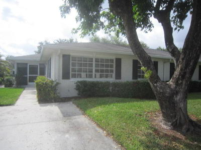 Boynton Beach FL Single Family Home For Sale: $105,000