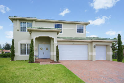 Royal Palm Beach Single Family Home For Sale: 123 Isola Circle