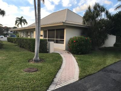 Boynton Beach Single Family Home For Sale: 631 Snug Harbor Drive #S2