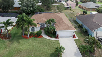 Port Saint Lucie Single Family Home For Sale: 5949 NW Brenda Circle