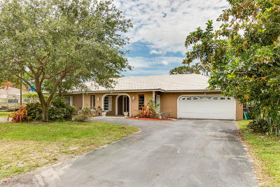 Delray Beach Single Family Home For Sale: 3604 Sherwood Boulevard