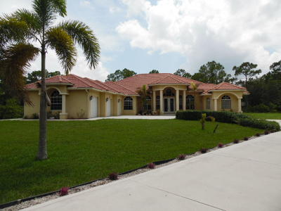 Loxahatchee Single Family Home For Sale: 6725 Apache Boulevard