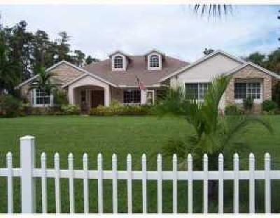 Lake Worth Single Family Home For Sale: 9431 Yearling Drive