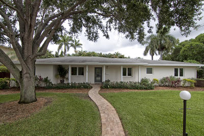 Delray Beach Single Family Home For Sale: 718 Gardenia Terrace
