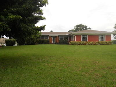 Boynton Beach Single Family Home For Sale: 1804 Tom A Toe Road