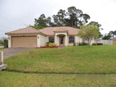 Port Saint Lucie Single Family Home Contingent: 1699 SW Mercedes Avenue