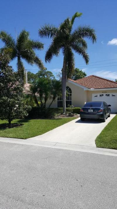 Palm City Single Family Home For Sale: 2229 SW Olympic Club Terrace