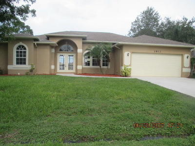 Port Saint Lucie Single Family Home Contingent: 2813 SW Vittorio Street