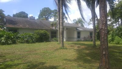 Jupiter Single Family Home Contingent: 12788 154th Road