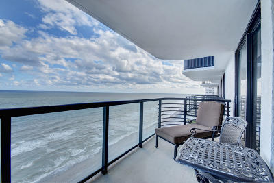 Palm Beach County Rental For Rent: 250 S Ocean Boulevard #16-C