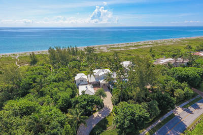 Hobe Sound Single Family Home For Sale: 489 S Beach Road