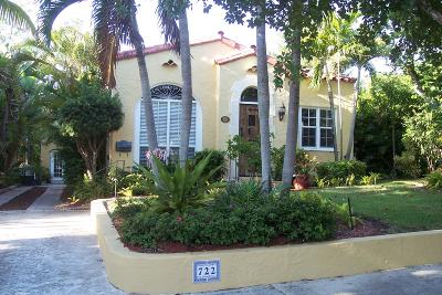 West Palm Beach Single Family Home For Sale: 722 Sunset Road
