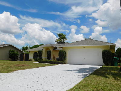 Port Saint Lucie FL Single Family Home Sold: $175,000
