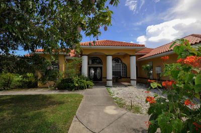 West Palm Beach Single Family Home For Sale: 7656 Pioneer Road