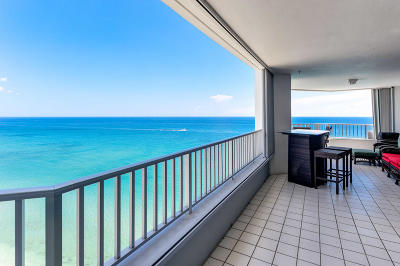 Singer Island Rental For Rent: 5200 Ocean Drive #2001