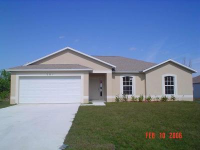 Port Saint Lucie Single Family Home Contingent: 381 SW Voltair Terrace