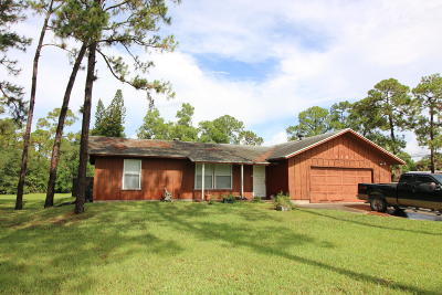Loxahatchee Groves Single Family Home For Sale: 1181 W C Road