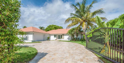 Lake Worth Single Family Home For Sale: 961 S Atlantic Drive S