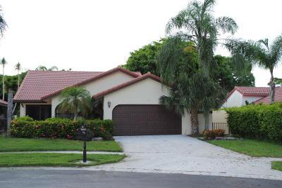 Boca Raton Single Family Home Contingent: 7978 Villa Nova Drive