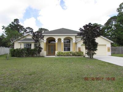 Port Saint Lucie Single Family Home For Sale: 1482 SW Medina Avenue