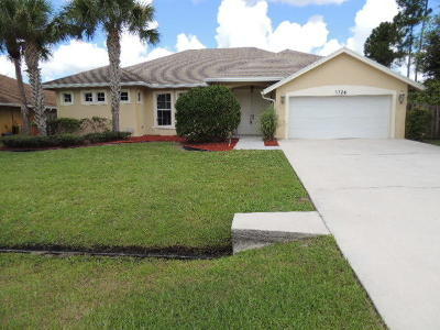 Port Saint Lucie Single Family Home Contingent: 3326 SW Savona Boulevard