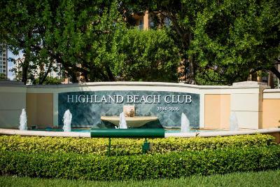 Highland Beach Condo For Sale: 3594 S Ocean Boulevard #207