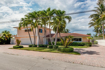 Singer Island Single Family Home For Sale: 1130 Bimini Lane