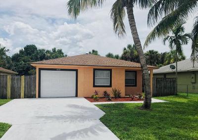 Jupiter Single Family Home For Sale: 6830 4th Street