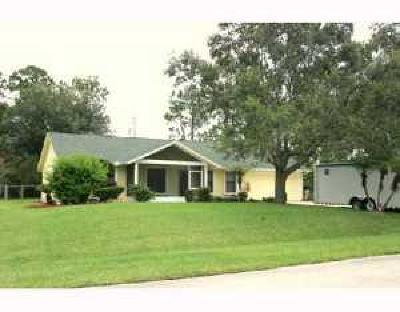 Port Saint Lucie Single Family Home For Sale: 1517 SW Dycus Avenue