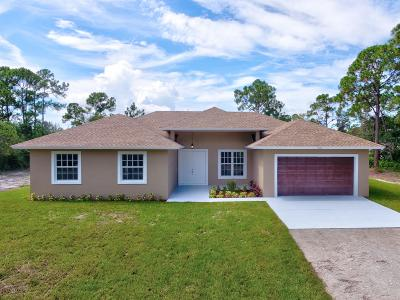 Royal Palm Beach Single Family Home For Sale: 13570 44th Place