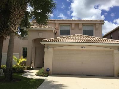 Royal Palm Beach Single Family Home For Sale: 1405 Briar Oak Drive