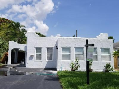 West Palm Beach Single Family Home For Sale: 505 Hunter Street