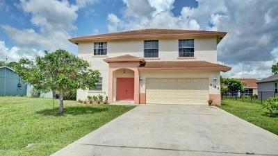 Port Saint Lucie Single Family Home For Sale: 3182 SW Esperanto Street