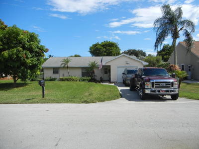 West Boynton Single Family Home For Sale: 3782 Dorrit Avenue
